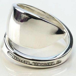 Tiffany & Co sterling silver bypass spoon ring